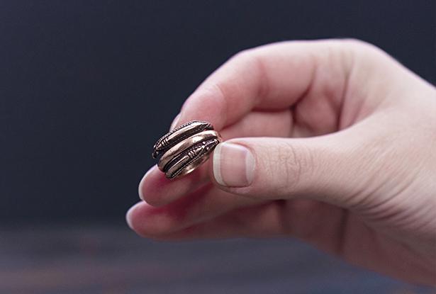 перстень медный, кольцо медь купить, символ бога рода, славянский оберег