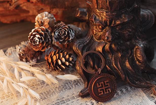 знак святогор, купить оберег дерево, боговник амулет, брелок славянский купить, брелок дерево