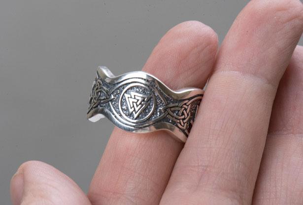 серебряное мужское кольцо, славянское кольцо серебро