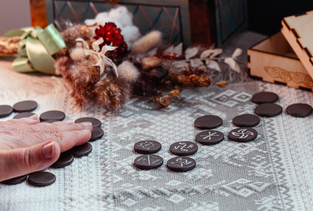 резы славянские для гадания, купить резы славянские для гадания, резы рода керамика