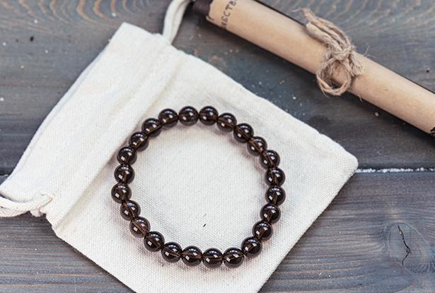 браслет из раухтопаза, раухтопаз, камень раухтопаз, амулет купить, браслет из натуральных камней купить, защитный браслет, магический браслет
