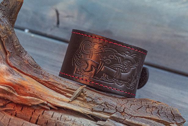 браслеты из натуральной кожи, славянский браслет из кожи