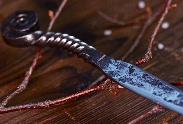 купить мужичий нож, кованый нож ручной работы