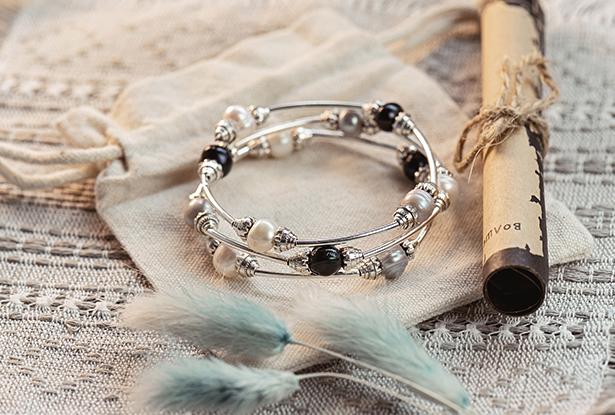 жемчужный браслет, оберег-браслет жемчужный, жемчуг белый купить, жемчуг славянский