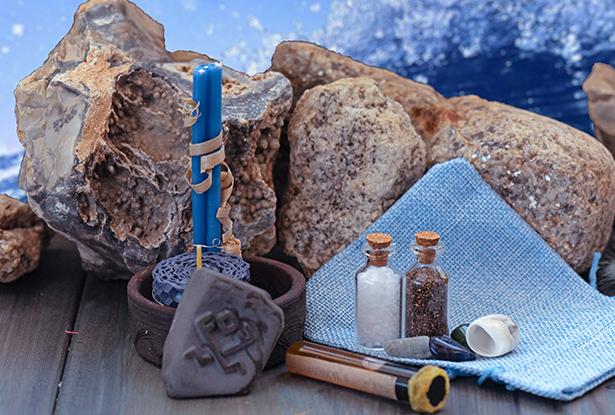 магия стихий, набор магии стихий, камни стихий, обетные свечи, верча богам, стихия воды