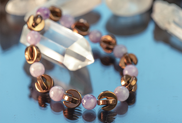 браслет Гематит Аметист купить, Гематит, Аметист, амулет купить, браслет для исполнения желания купить, браслет камень, женский браслет, купить браслет, купить браслет из камня, защитный браслет, магический браслет