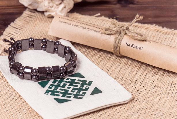 гематитовый браслет на руку, гематитовый браслет, магнитный гематитовый браслет