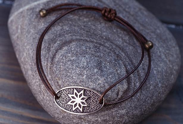 славянский крес, браслет из бронзы, купить защитный браслет, славянский браслет оберег, купить крес