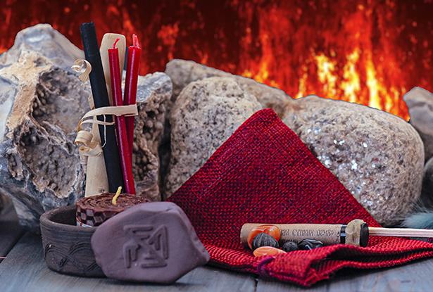 магия стихий, набор магии стихий, камни стихий, обетные свечи, верча богам, стихия огня