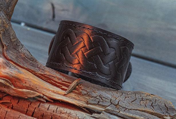 кожаный браслет ручной работы, кожаный браслет широкий купить