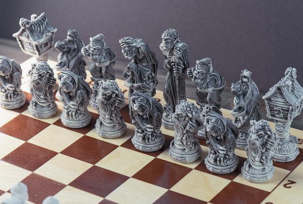 шахматы, купить шахматы, сказочные фигуры шахматы, необычные шахматы, оригинальные шахматы, славянские шахматы, подарочные шахматы