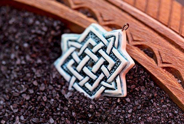 символ звезды кость, оберег звезда кость, амулет кость, купить оберег из кости, славянская подвеска