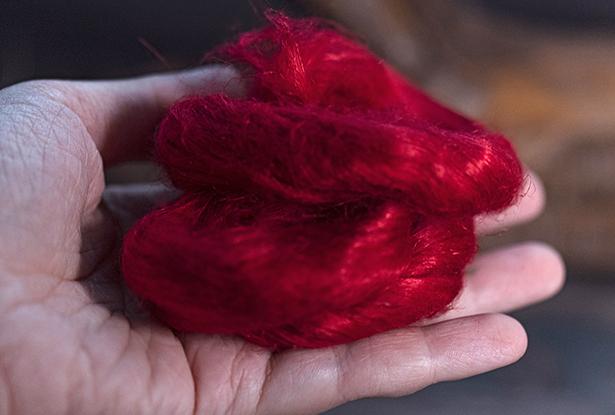 конопляная кудель, красная кудель, конопля второй очёс