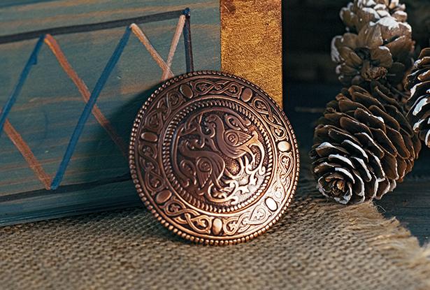 славянская брошь, купить брошь, славянский оберег, славянский амулет, брошь медь