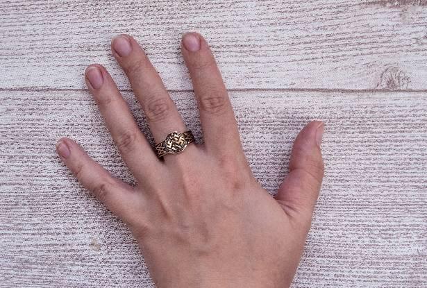 защитное кольцо, цвет папоротника, оберег купить