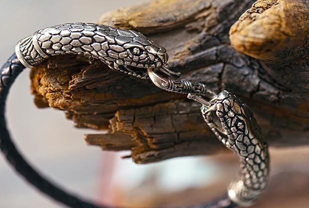 браслет со змеями, браслет кожаный, браслет латунь, браслет ручной работы, браслет кожа, браслет кожа купить, купить славянский оберег, славянский браслет, купить оберег