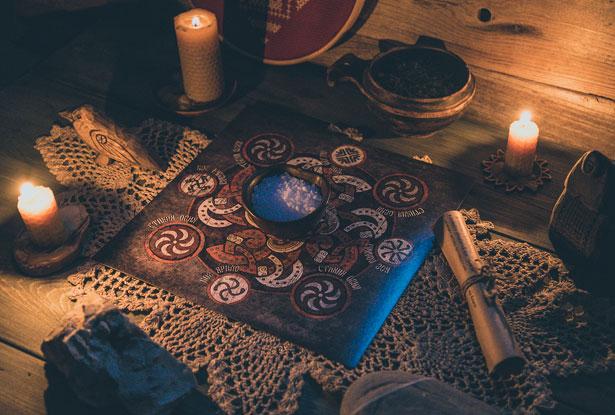 свечи магические восковые
