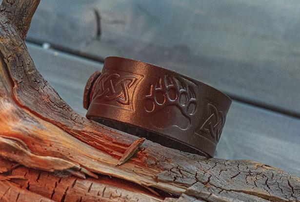 браслет кожаный ручной работы, браслет велес, браслет кожаный, славянский браслет