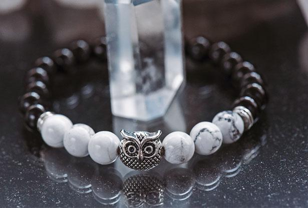 агат, каулит, браслет камень, женский браслет, купить браслет, купить браслет из камня, защитный браслет, магический браслет