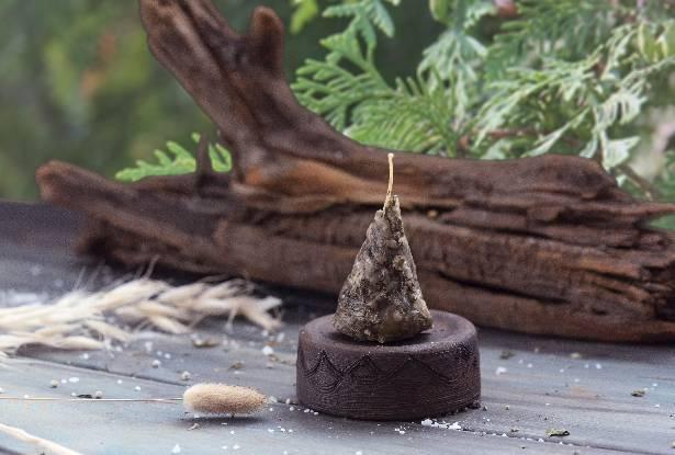 воск свеча, свеча пирамидка, воск с травами купить, свеча туя