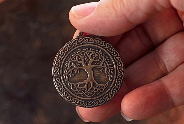 оберег древо, славянский оберег, купить мировое древо, оберег латунь