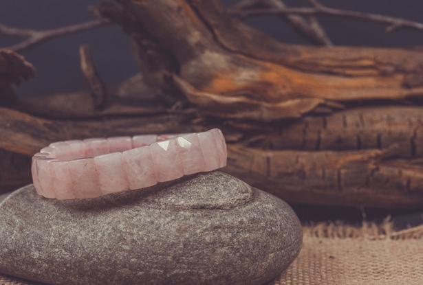 розовый кварц браслет, браслет из розового кварца, браслет из розового кварца купить
