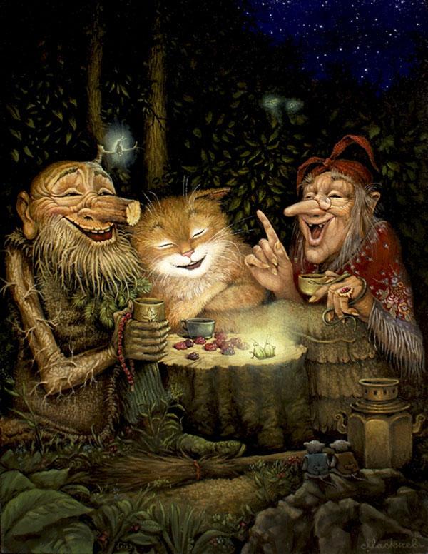 славянские духи, славянская мифология лешие домовые водяные книга, духи в народных сказках руси